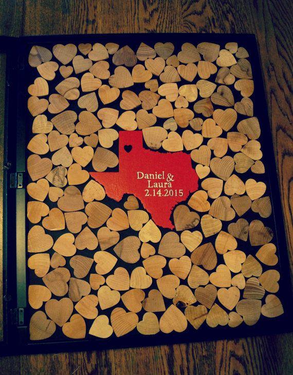 Alternative Wedding Guest Book Wood Heart Guestbook By Cforiginal