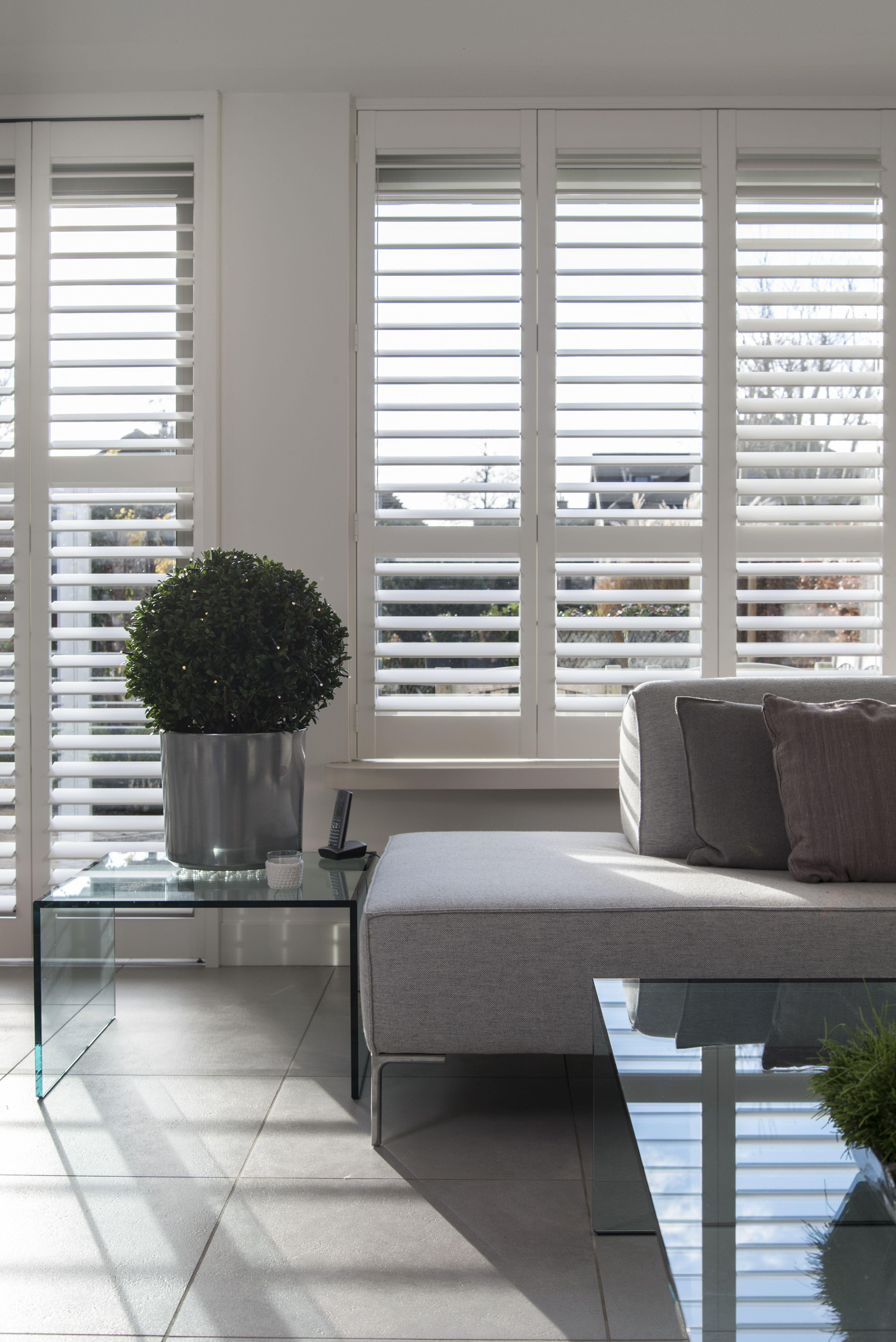 Bekend INHUIS Plaza | Witte houten shutters in een strak en modern TX95