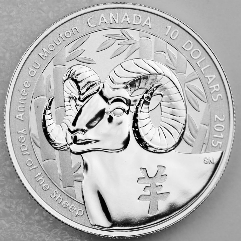 2015 10 Year Of The Sheep 189 Oz Pure Silver Specimen Coin Great Gift Coin Zodiac Symbols