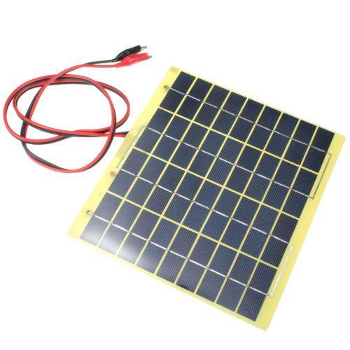 Et 220x200mm 12v 5w Solar Panel Fit Car Battery Trickle Charger Backpack Power Photovoltaic Panels Best Solar Panels Mini Solar Panel