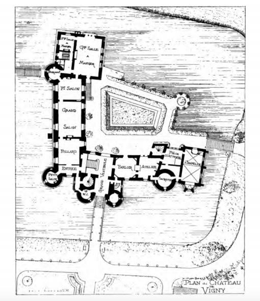 Chateau De Vigny Plan Architecture Plan House Floor Plans Vintage World Maps