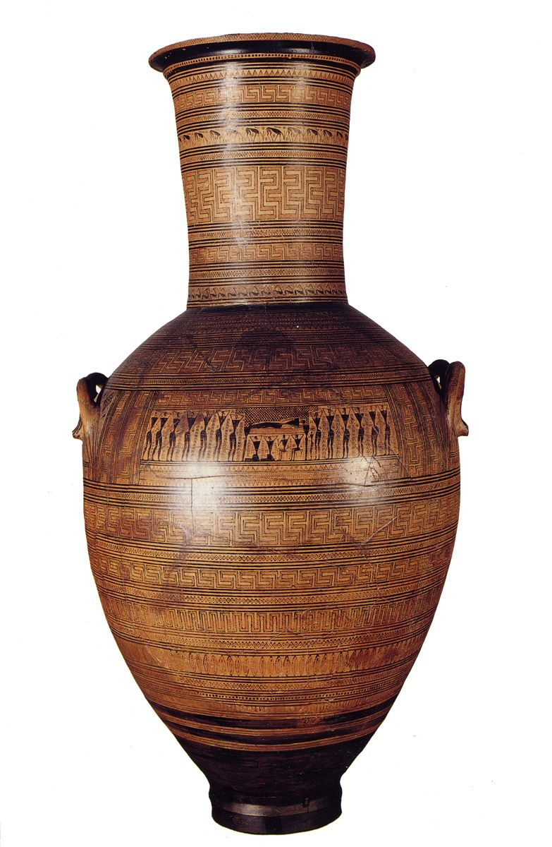Dipylon amphora geometric period 750 bce artist the dipylon western art reviewsmspy
