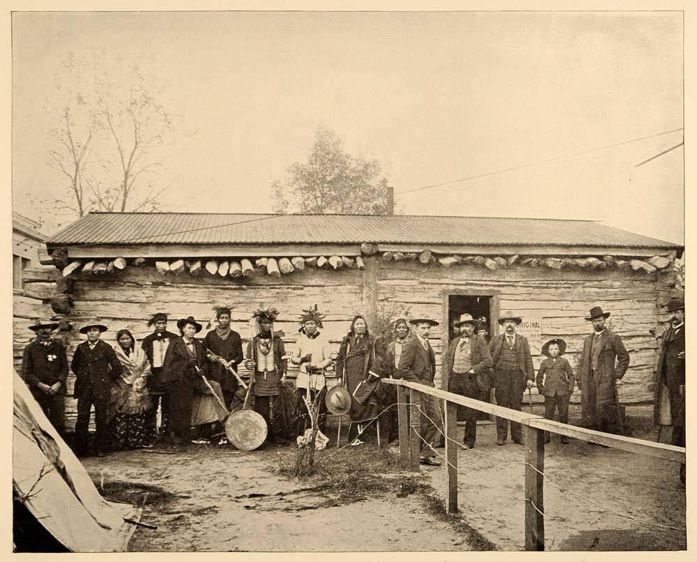 1893 Chicago Worlds Fair Sitting Bull's Log Cabin.