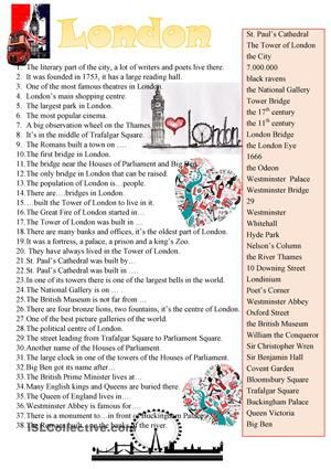 Places of interest in London England Pinterest Worksheets