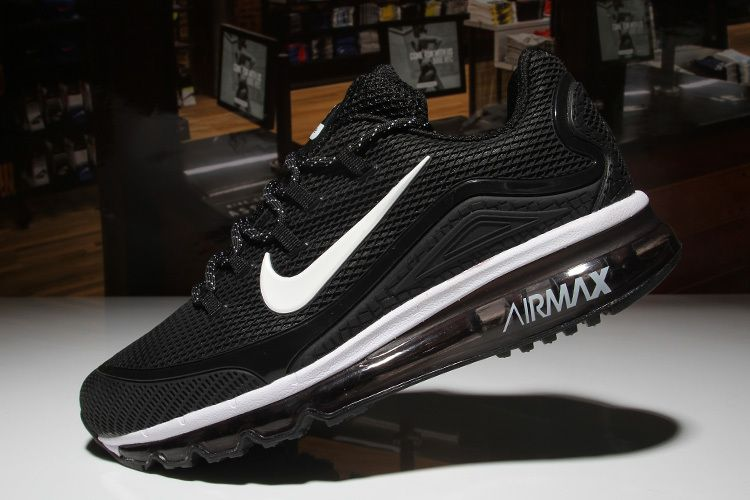 Nike Air Max 2018 Black White Men KPU