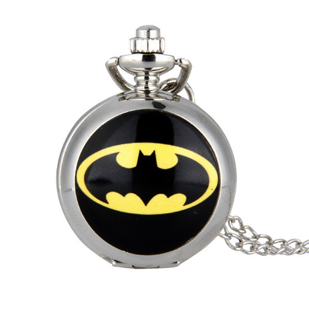 Cindiry bm new fashion batman black dial movie quartz pocket watch