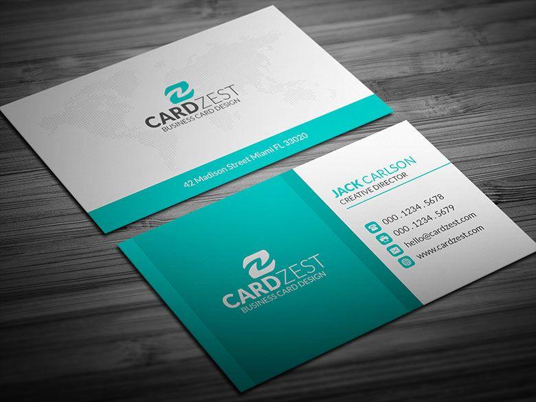 Download Http Cardzest Com Fresh Teal Corporate Business Card Template Fresh Corporate Business Card Free Business Card Templates Business Card Template