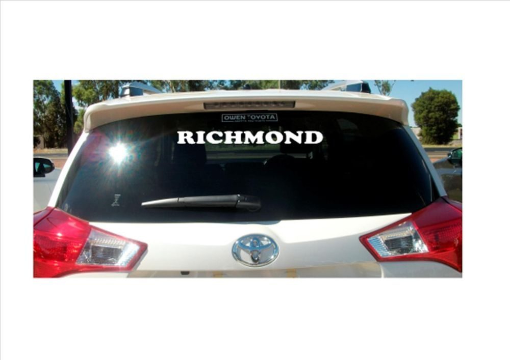 Gold coast removable vinyl decal sticker for car boat