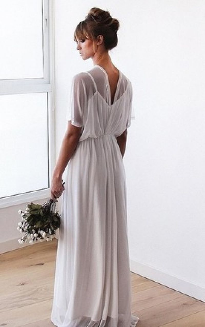 Adorable long casual wedding dress wedding dresses pinterest