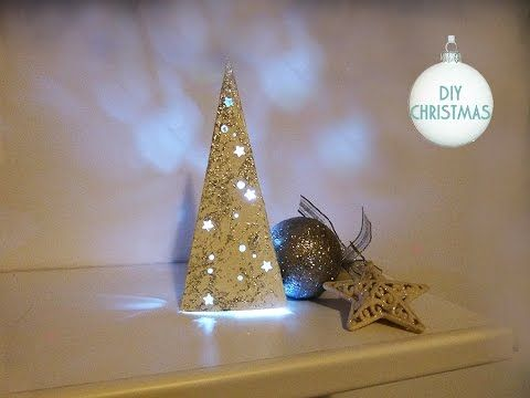 Decorazioni Luminose Natalizie Fai Da Te : Diy: albero di natale luminoso 🎄 fai da te 🎄 christmas tree