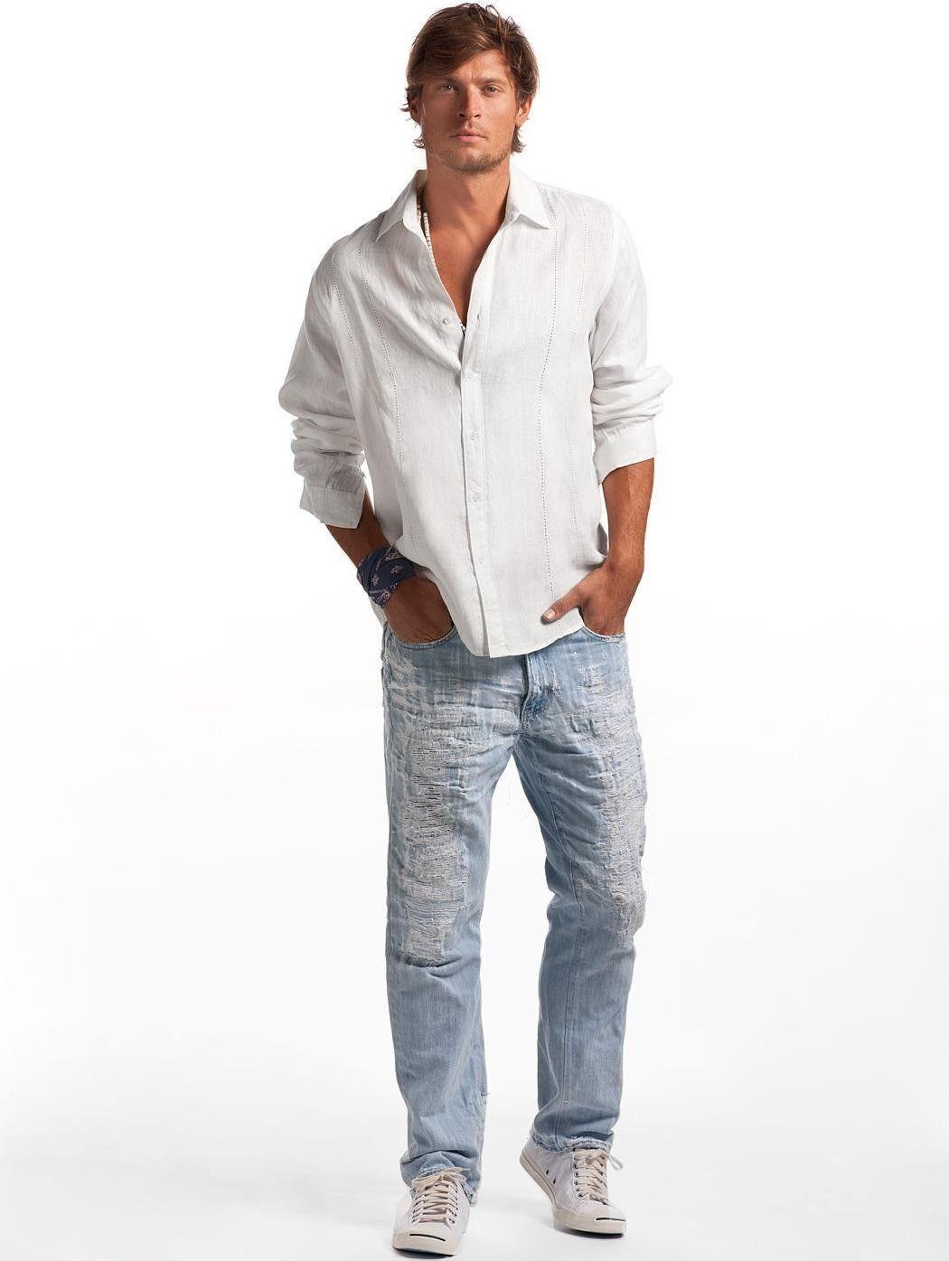 White Rio Linen Shirt - Men's White Linen Shirt | Island Company ...