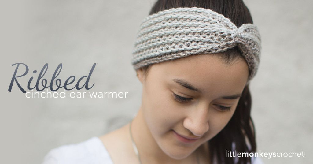 Ribbed Cinched Ear Warmer