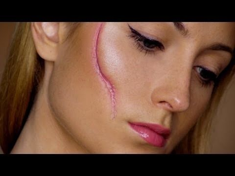 easy scar last minute halloween makeup tutorial - Halloween Tutorials
