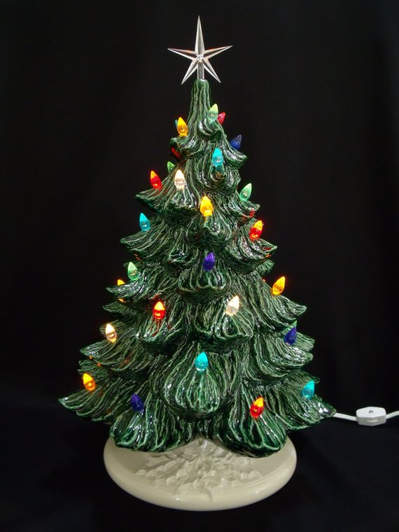 Classic Ceramic Christmas Tree 19 Inches Products Ceramic