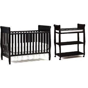 Graco   Sarah Classic Convertible Crib W/Mattress U0026 Changing Table Bundle,  Espresso