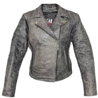 d8faa9c07 Vulcan NF-8181 Distressed-Leather Womens Motorcycle Jacket ...
