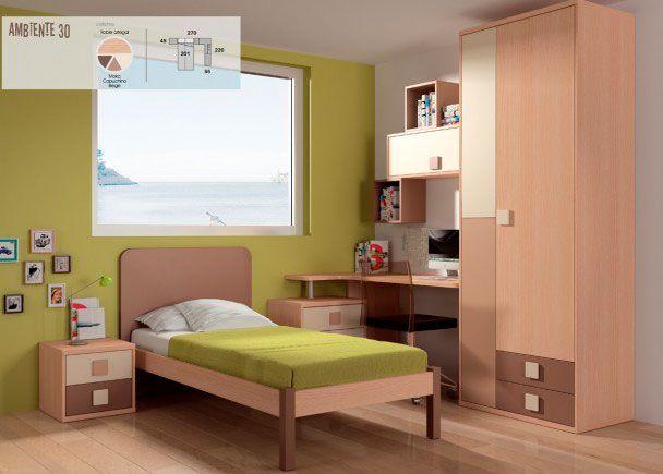 Habitación infantil con cama tradicional | Novedades de mueble ...