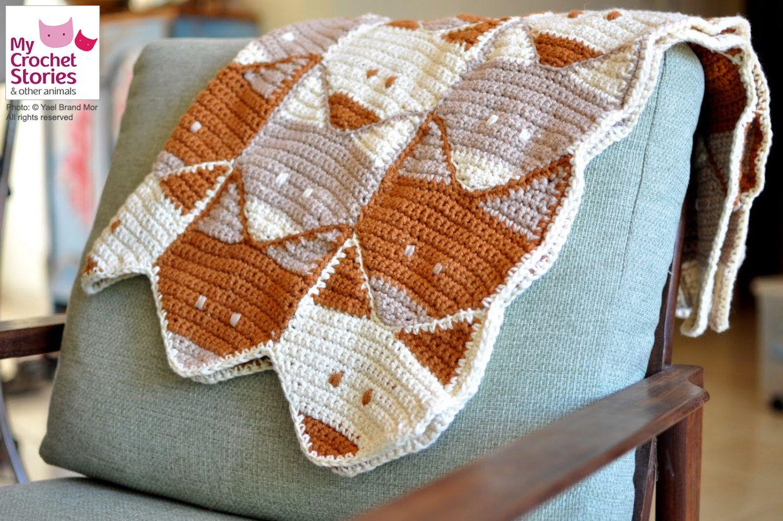 Crochet Baby Blanket Pattern, Fox Baby Blanket Pattern, fox afghan ...