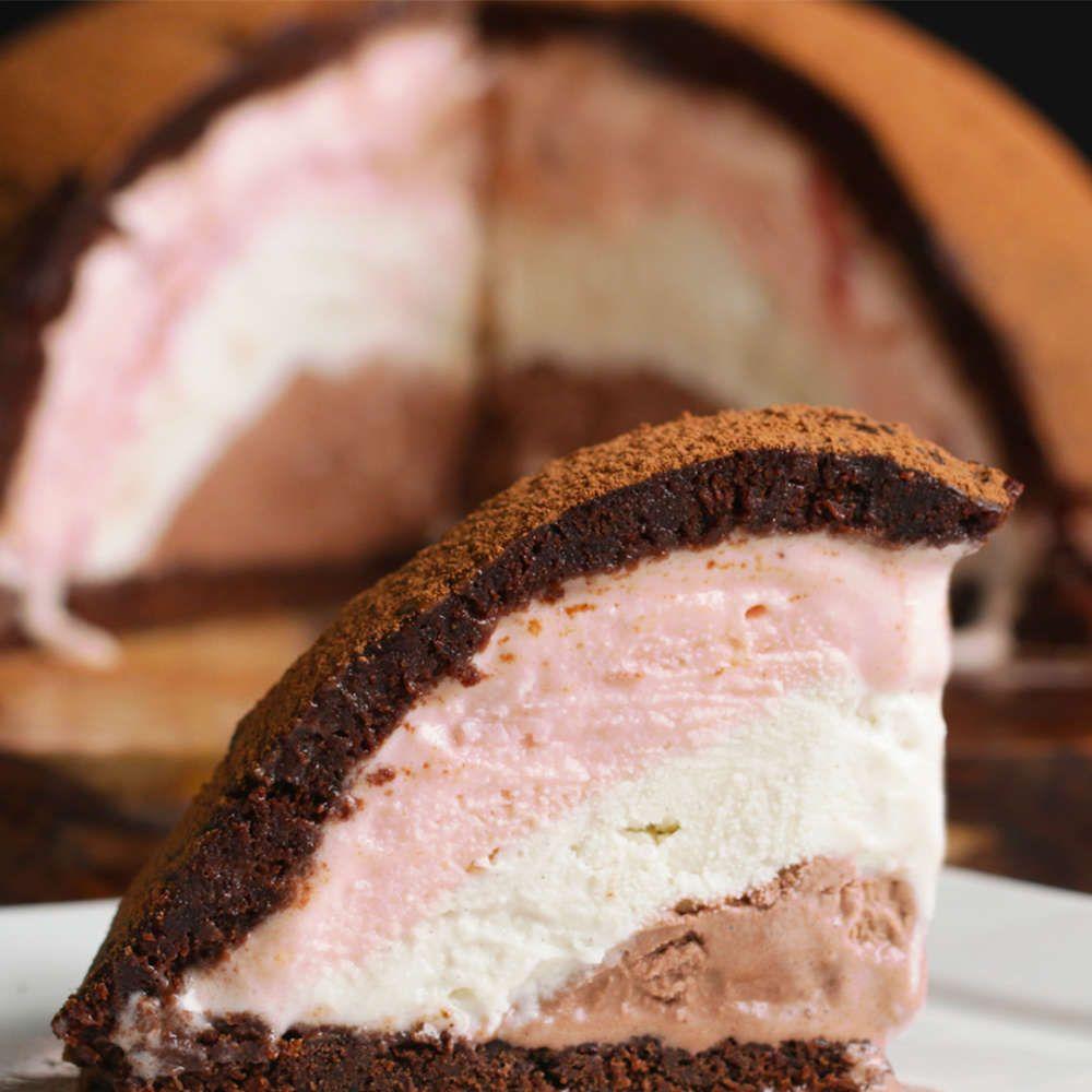 Neapolitan Brownie Bomb Recipe Desserts Dessert Recipes