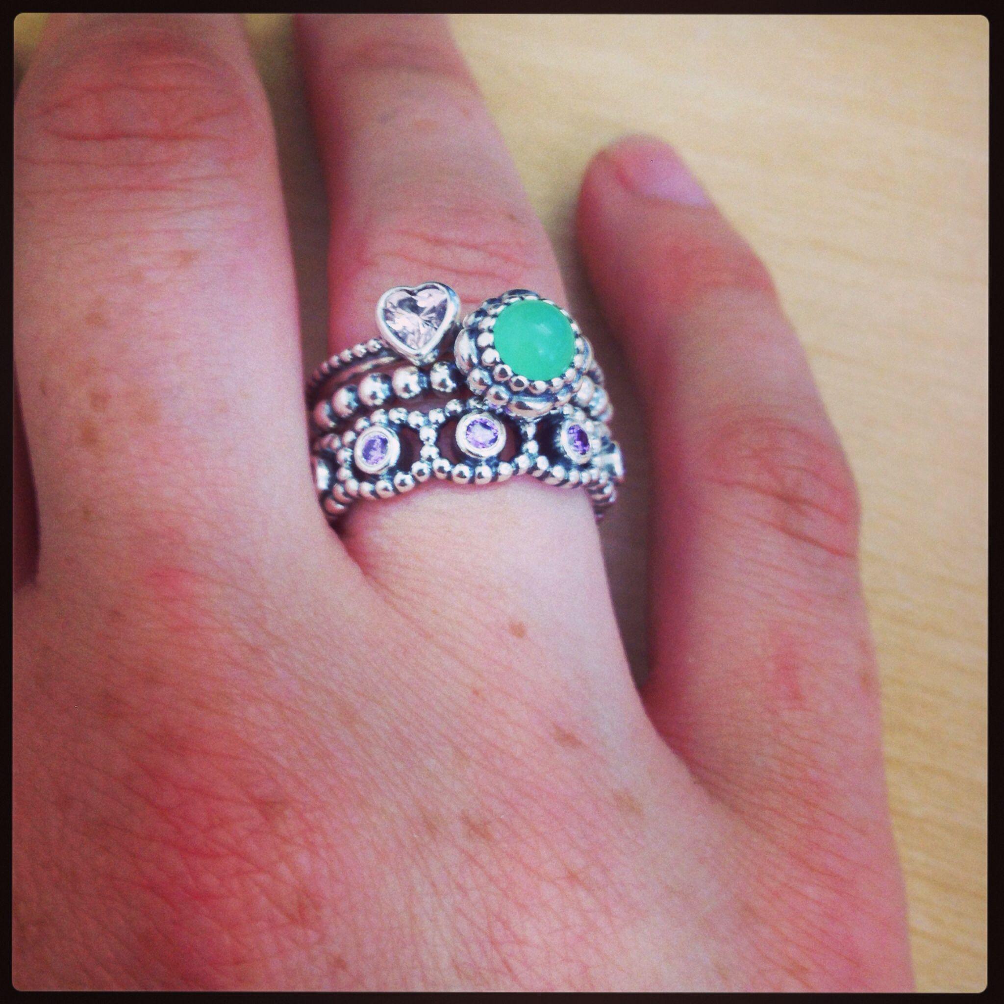 3 ring stack #pandora | Bling | Pinterest | Ring, Pandora rings and ...