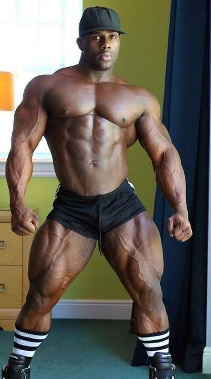 Black gay muscular men
