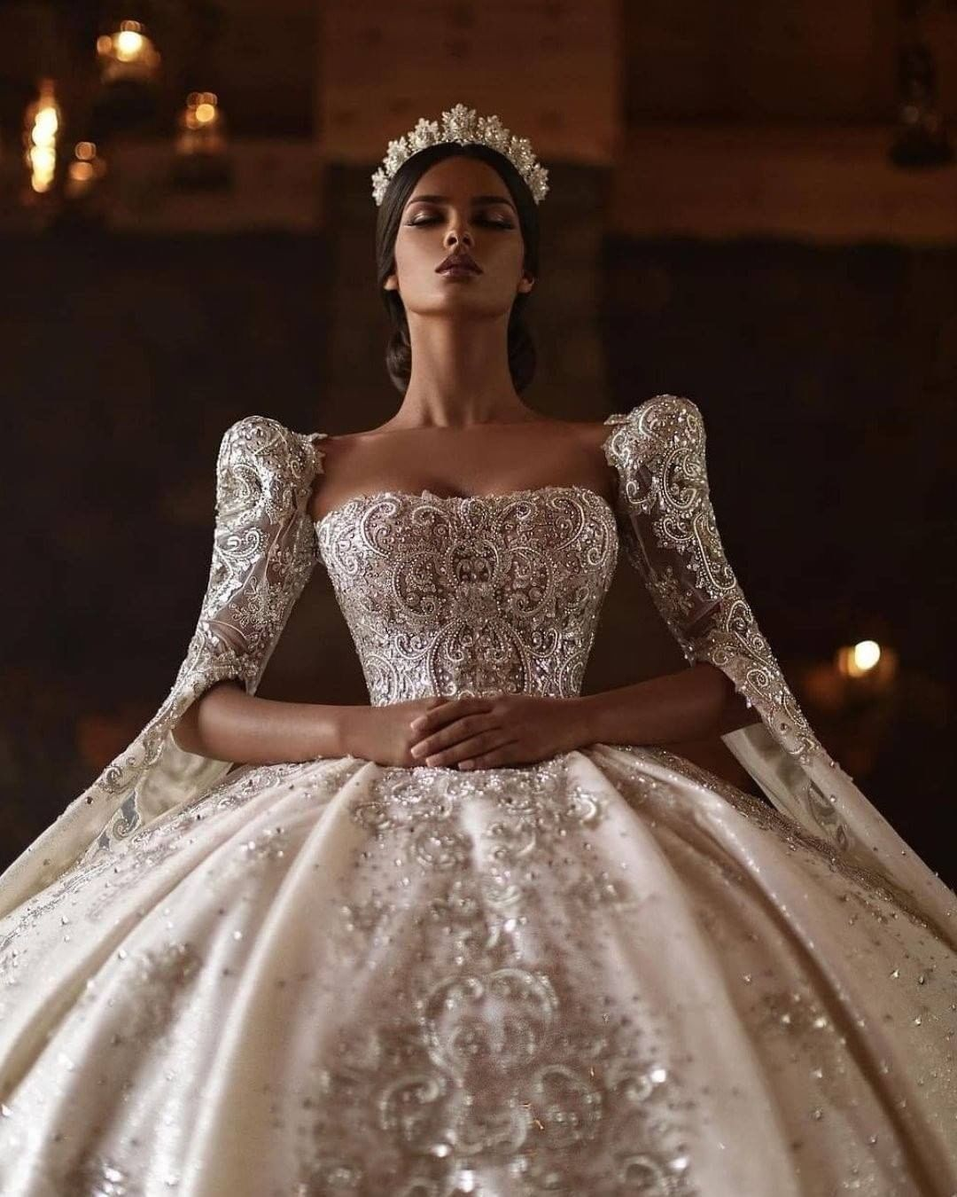 Luxury Wedding Pages On Instagram Can T Get Over These Amazing Dresses Which One Would Yo In 2021 Wedding Dresses Extravagant Wedding Dresses Bridal Ball Gown