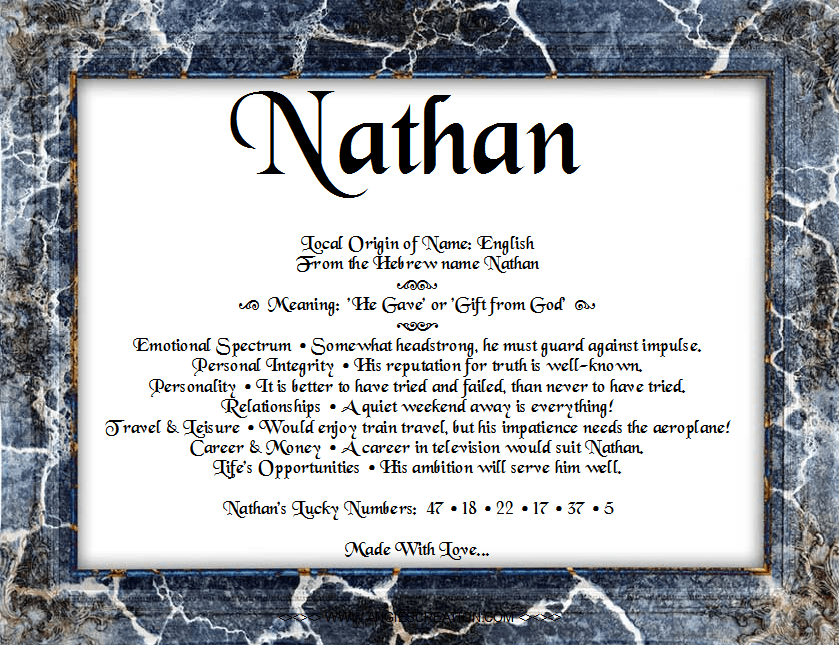 meaning of nathan - Google Search | Names with meaning ...