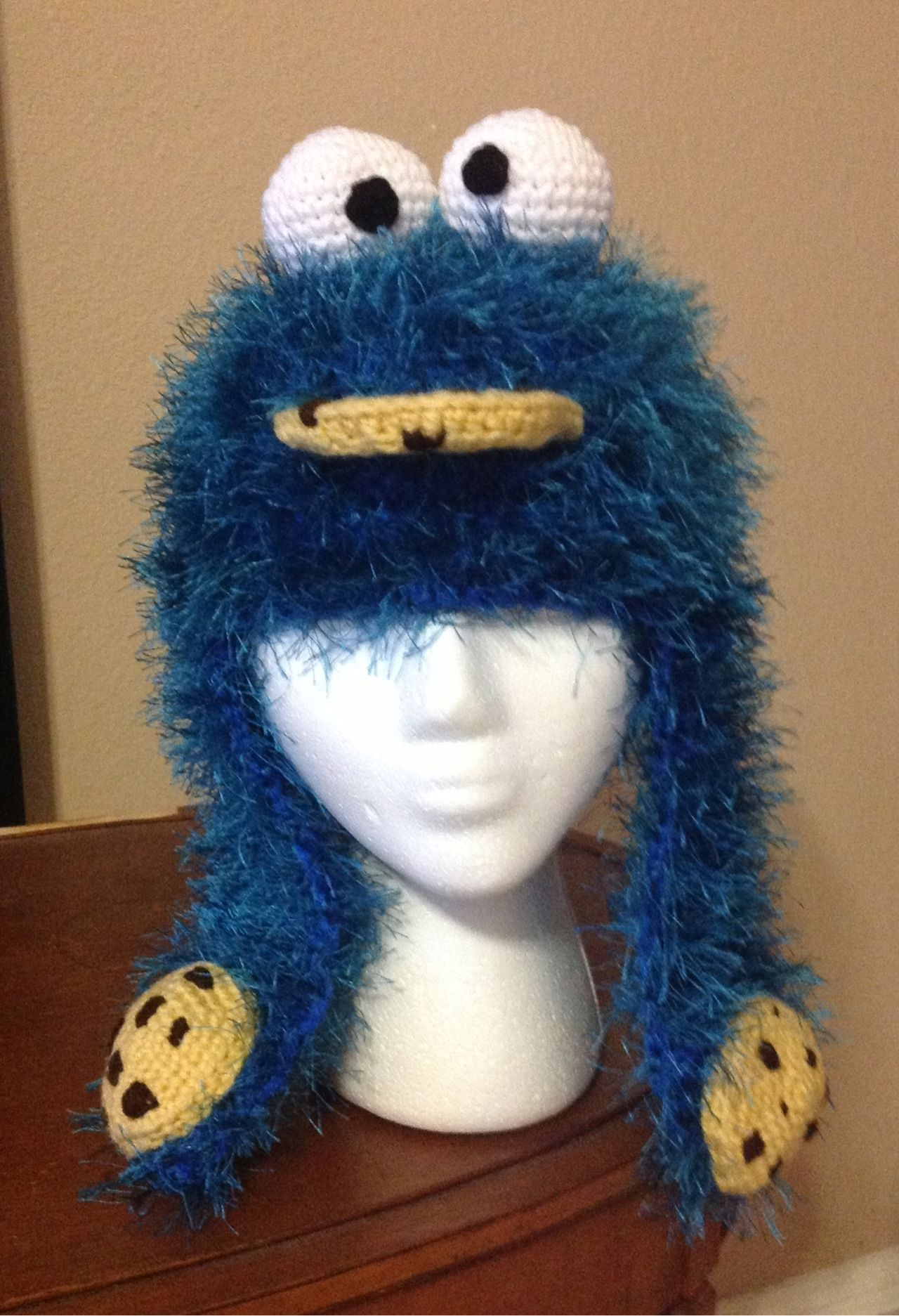 Cookie Monster hat | Crochet | Pinterest | Krümelmonster, Mütze und ...