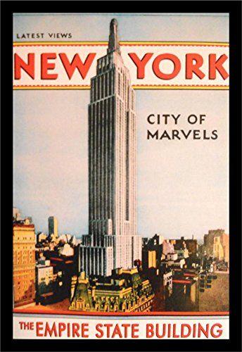 buyartforless IF VINT1012X Framed Vintage New York City o