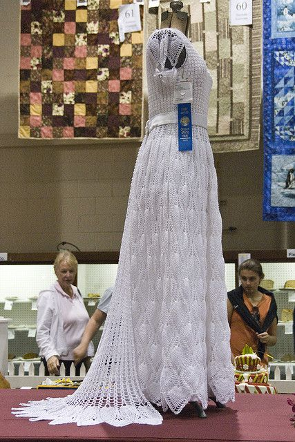 My Sister Laurys Beaded Crocheted Wedding Dress Pattern And Work
