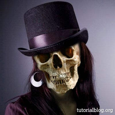skull face photoshop tutorial