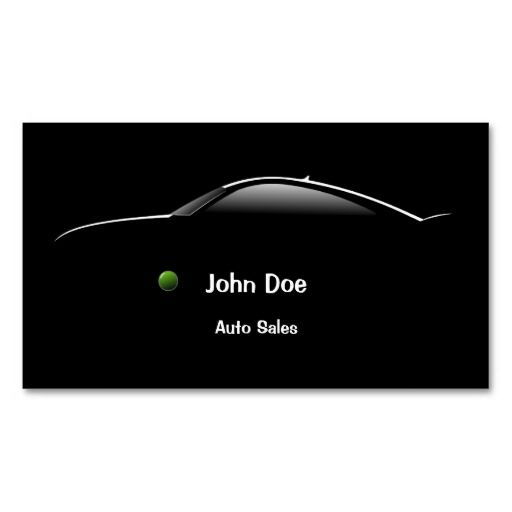 Concept Car Auto Sales Business Card | Zazzle.com