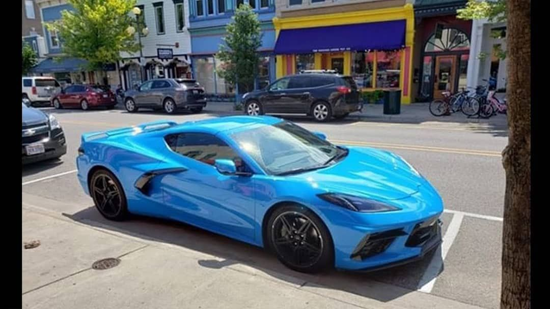 2020 Corvette C8 Mid engine looking like a super car. This