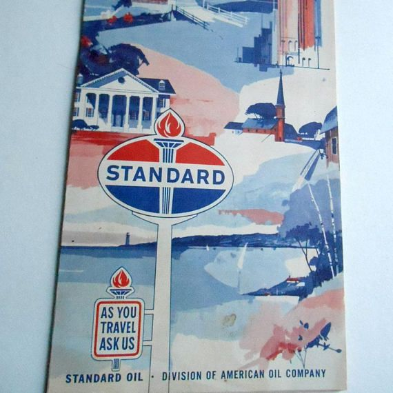Vintage 50s Standard Oil American Oil Company Kansas City Vintage 50s Standardoil American