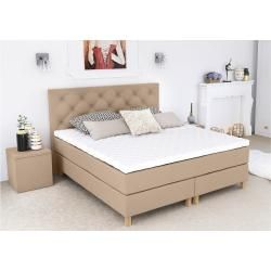 Photo of Eless Amore Boxspringbett Beige 200×200 cm H3-H4