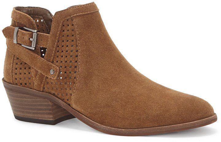 Pamma Suede Block Heel Booties Nac79Xe