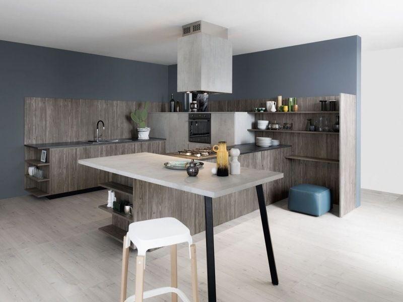 cuisine moderne avec Îlot  et tabouret de bar