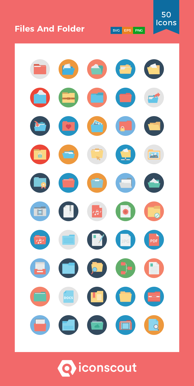Download Files And Folder Icon pack Available in SVG