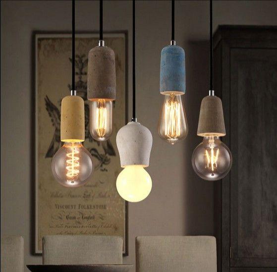 Pas cher Loft industriel Style Art Vintage ciment Droplight Edison - lustres salle a manger