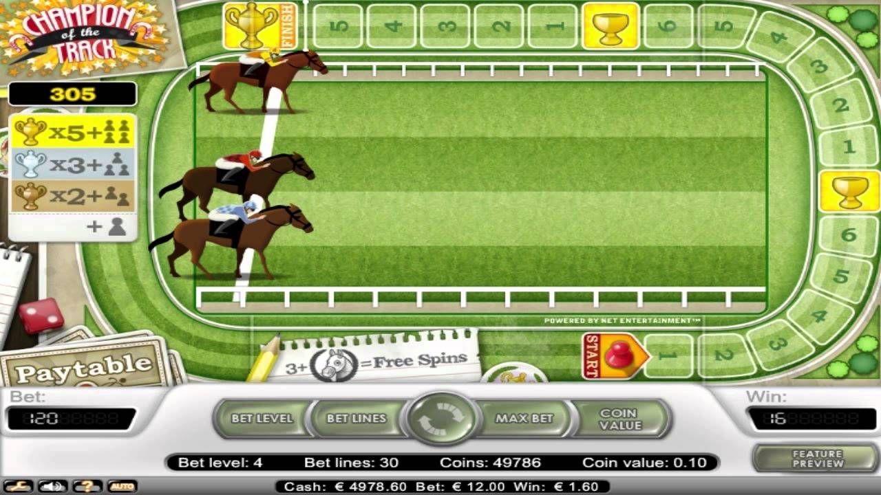 La machine à sous Champion of the Track est une machine à