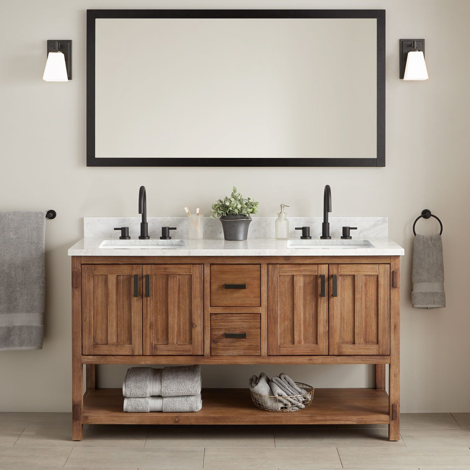 60 Morris Console Double Vanity For
