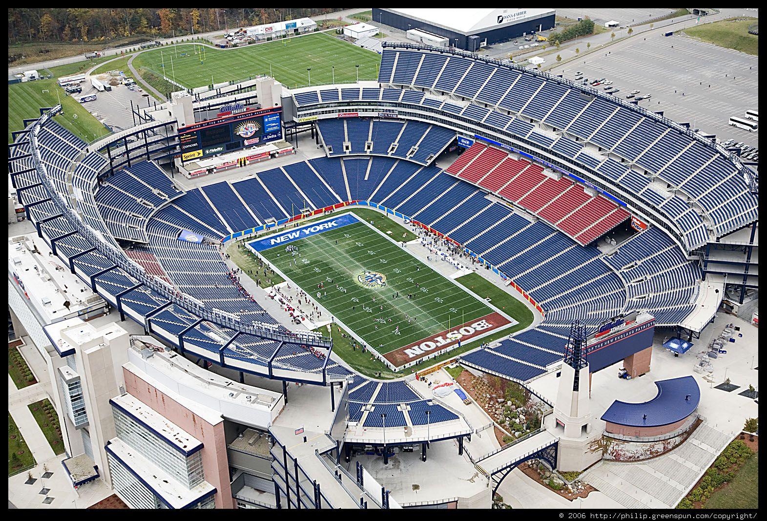 gillette stadium seat chart
