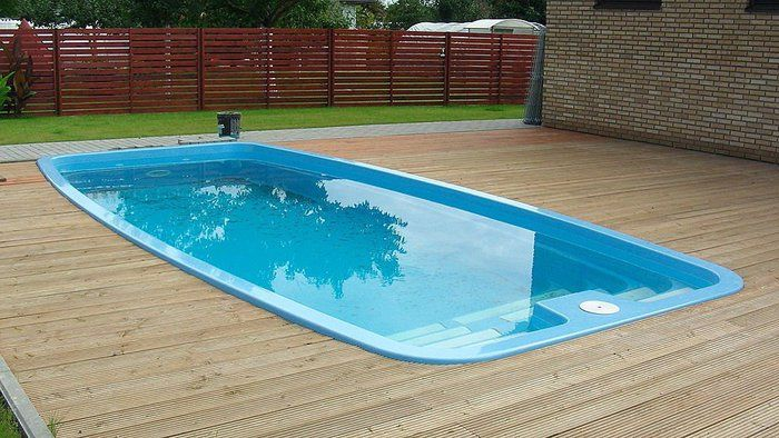 Swimming Pool Simple And Cheap Fiberglass Swimming Pool Ideas For