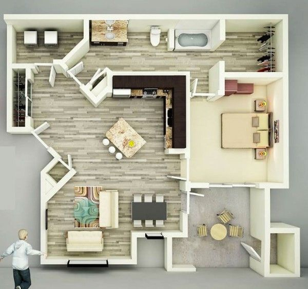 25 One Bedroom House Apartment Plans Ideas For The House