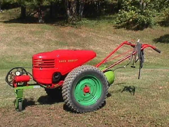Tractor Mowing Painting : Antique walk behind garden tractors best