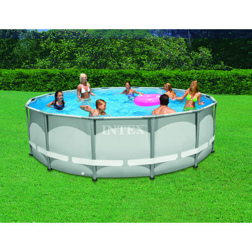INTEX Ultra Frame 14 ft x 42 in Round Pool Set with 1,000 Gal Filter ...