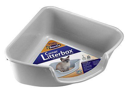 Smartcat corner litter box gray litter box and small spaces - Litter boxes for small spaces paint ...