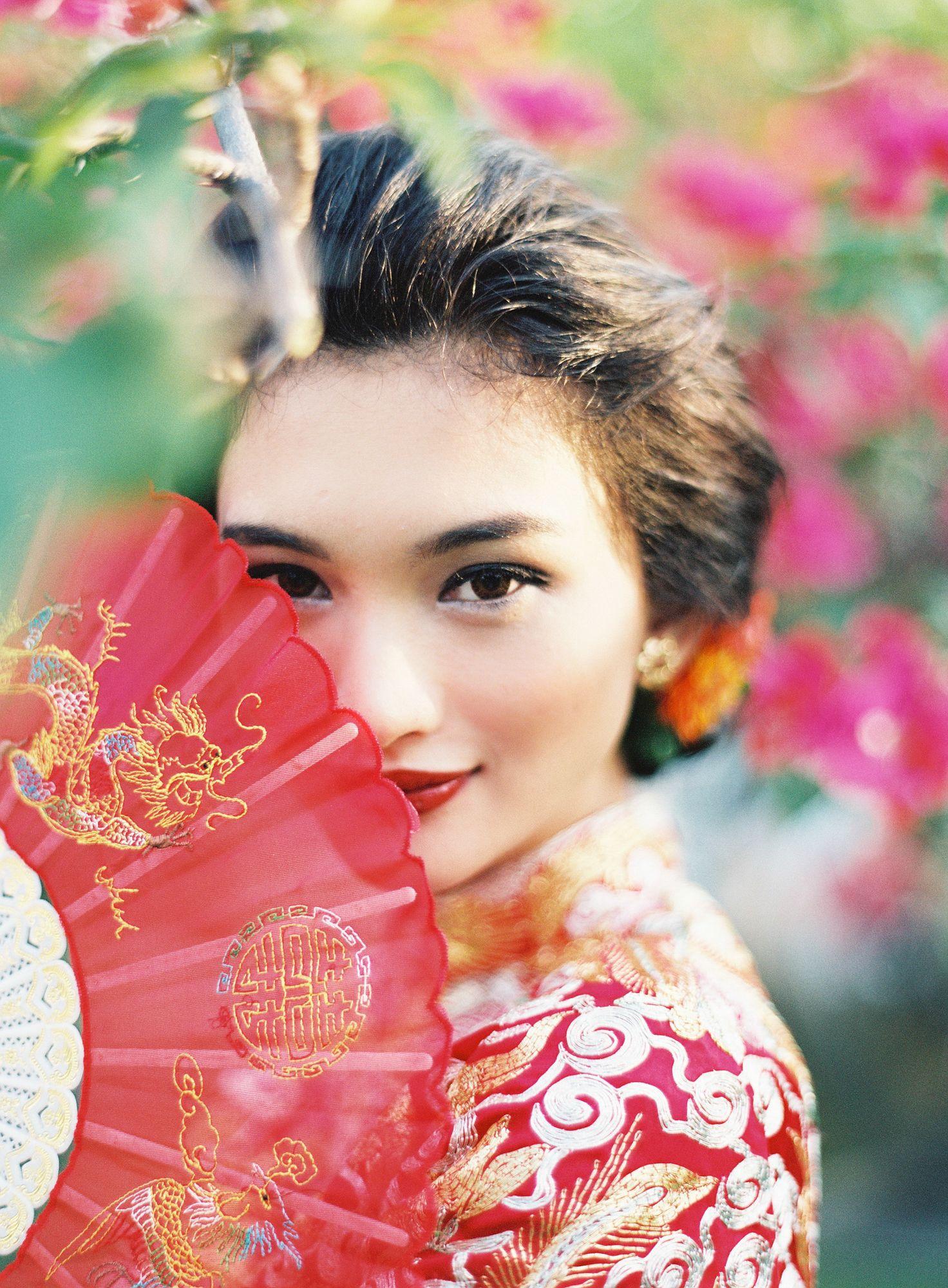 中国婚礼之新娘发型 the bride hairstyle of chinese wedding https