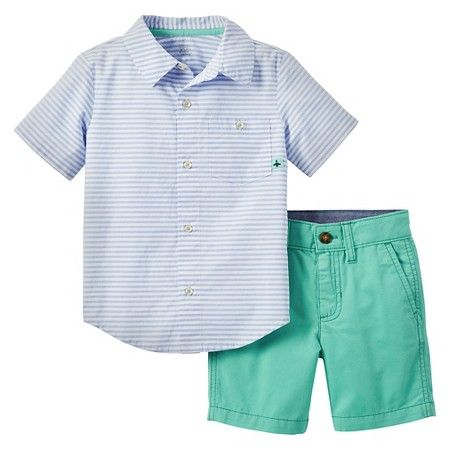 56e9c3565 Just One You™ Made by Carter's® Toddler Boys' 2-Piece Short Set - Blue/Green  : Target