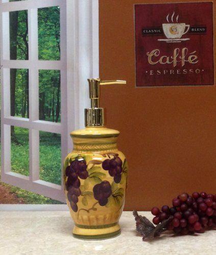 Grape Kitchen Items | Tuscany Grapes Canisters Kitchen Decor Set